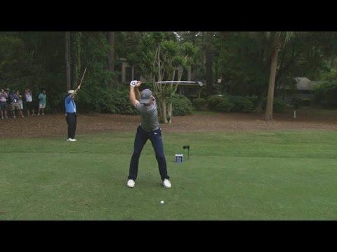 Jordan Spieth's slo-mo swing is analyzed at RBC Heritage
