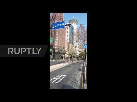 China: Coronavirus Leaves Streets Of Shanghai Deserted
