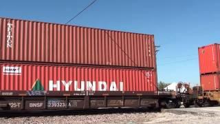 BNSF 6579 leads a E/B stack train Afton Oklahoma.