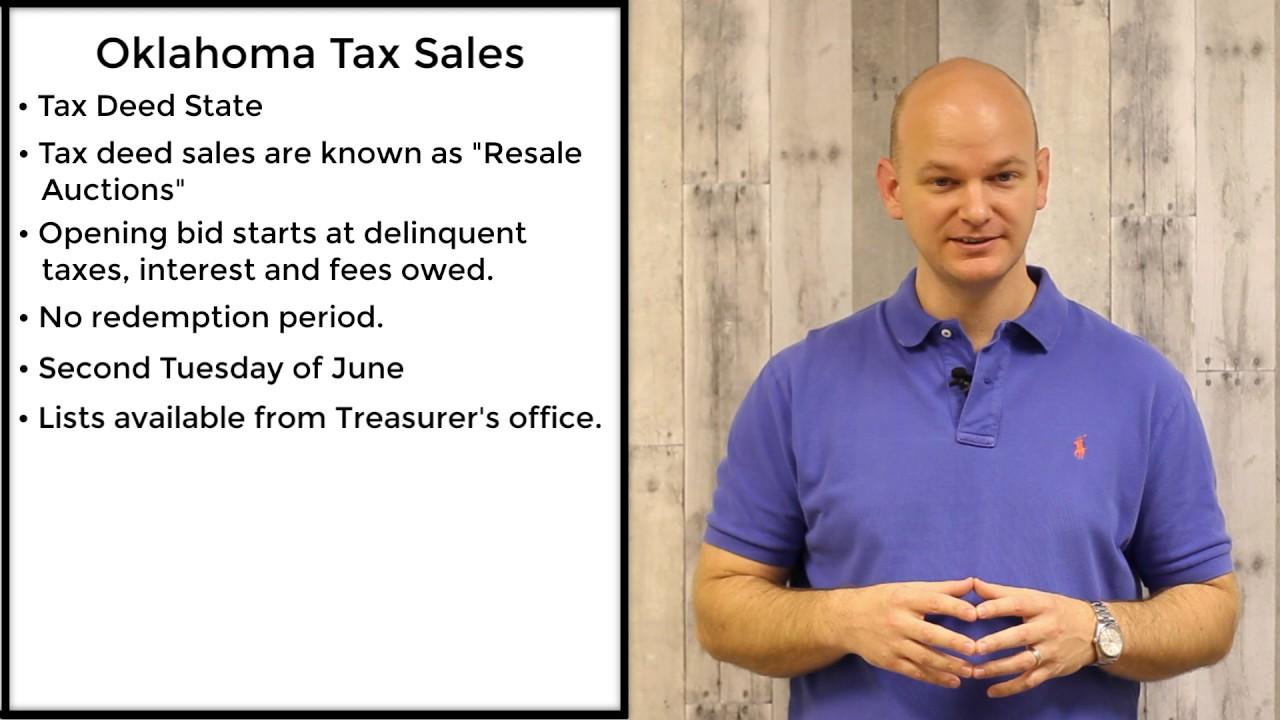 Oklahoma Tax Sales Tax Deeds Youtube