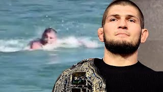 WATCH: Khabib Nurmagomedov Swim In A FREEZING River To Prepare For Fight Against Tony Furgeson!