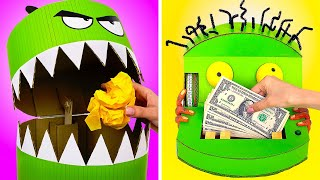 Cute Monster Crafts || Awesome DIY Crafts From Cardboard