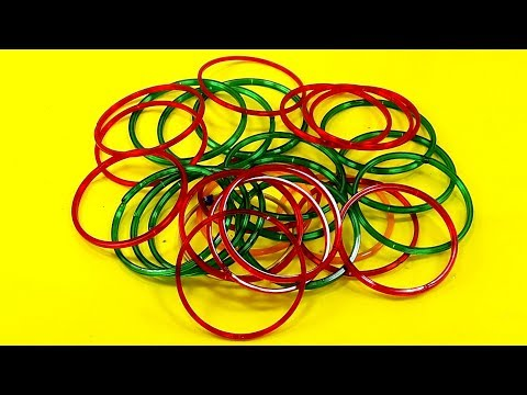 Old bangles Craft Idea   DIY Home Decor with old bangles   DIY Home Decor