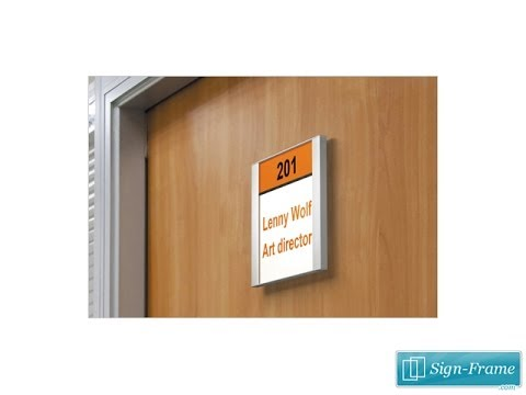 Office Signs | Flat Portrait Floating | Sign-Frame.com