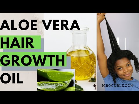 DIY - How To Make ALOE VERA OIL For Hair Growth (#01)