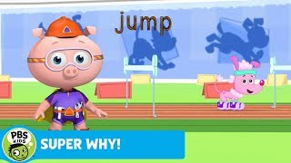 SUPER WHY!   Alpha Pig Helps Serena Jump   PBS KIDS