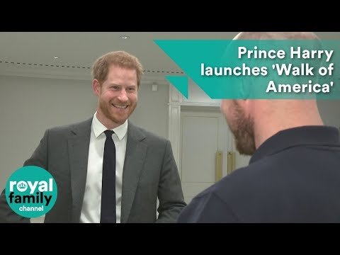 Prince Harry launches 'Walk of America' as he becomes patron