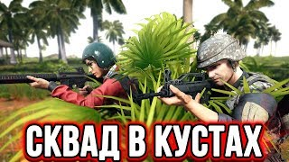 PUBG ТАКТИКА СКВАД В КУСТАХ | ЛУЧШИЕ МОМЕНТЫ ПУБГ!