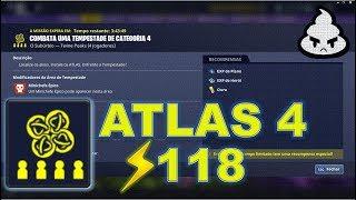 Defesa de ATLAS 4 Plus (lvl 118) Gameplay - Fortnite Salve o Mundo
