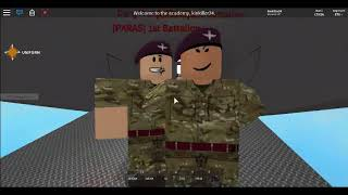 Roblox BA Academy following recruits and parachute regiment fangirls