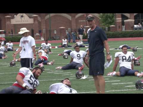 Spider Football Offensive Coordinator Charlie Fisher Mic