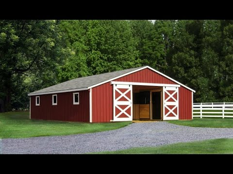 30' Prefab Horse Barn | North Country Sheds