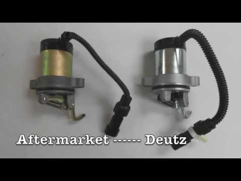 Deutz Electronic Shutoff Solenoid Identification And