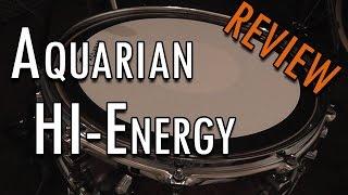 Aquarian HI-ENERGY Snare Drumhead Review - Sonor S-Classix