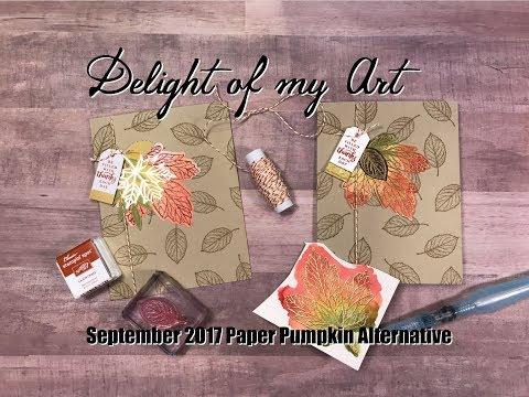 Gold Embossed Leaves - Sept. 2017 Paper Pumpkin Alternative