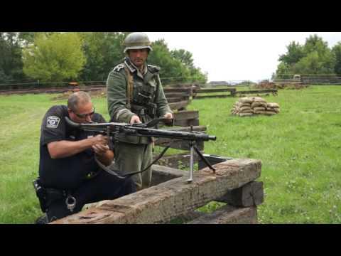 WW2 German MG42 Machine Gun Test Fire