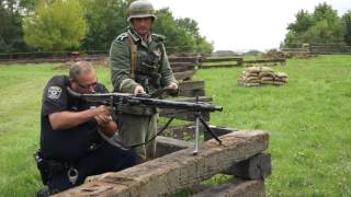 WW2 German MG42 Machine Gun Test Fire