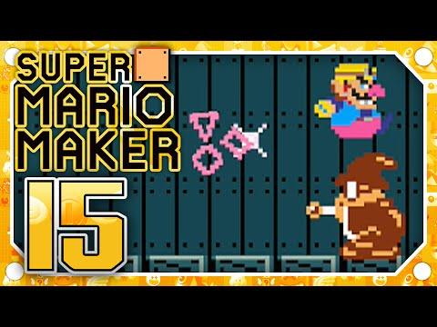 Super Mario Maker - Part 15 - WARIO'S HAUNTED CASTLE!