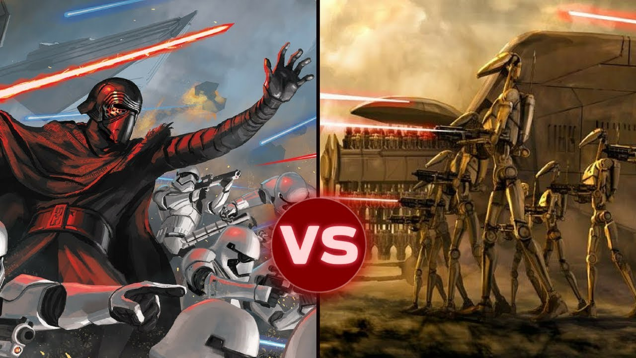the first order vs the separatists cis in all out war star wars