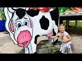 ВЛОГ Диана  и Рома играют на ферме