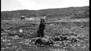 U.S. invasion of Saipan in Mariana Islands during World War II HD Stock Footage