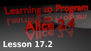 Alice Tutorial 2.4 Lesson 17.2 - Building A Real-time Clock