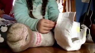 Baby alive Ivy feeding and potty training goes wrong