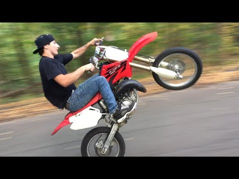 More Wheelies.. First day with cr85!