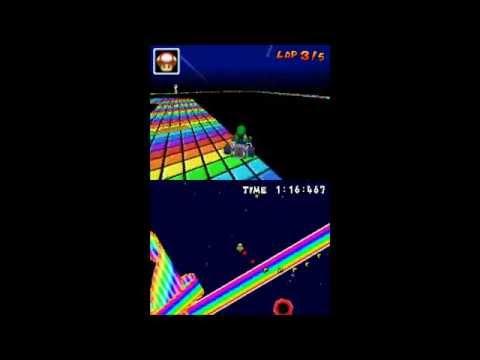 Mario Kart DS Random Hack Classic SNES Rainbow Road