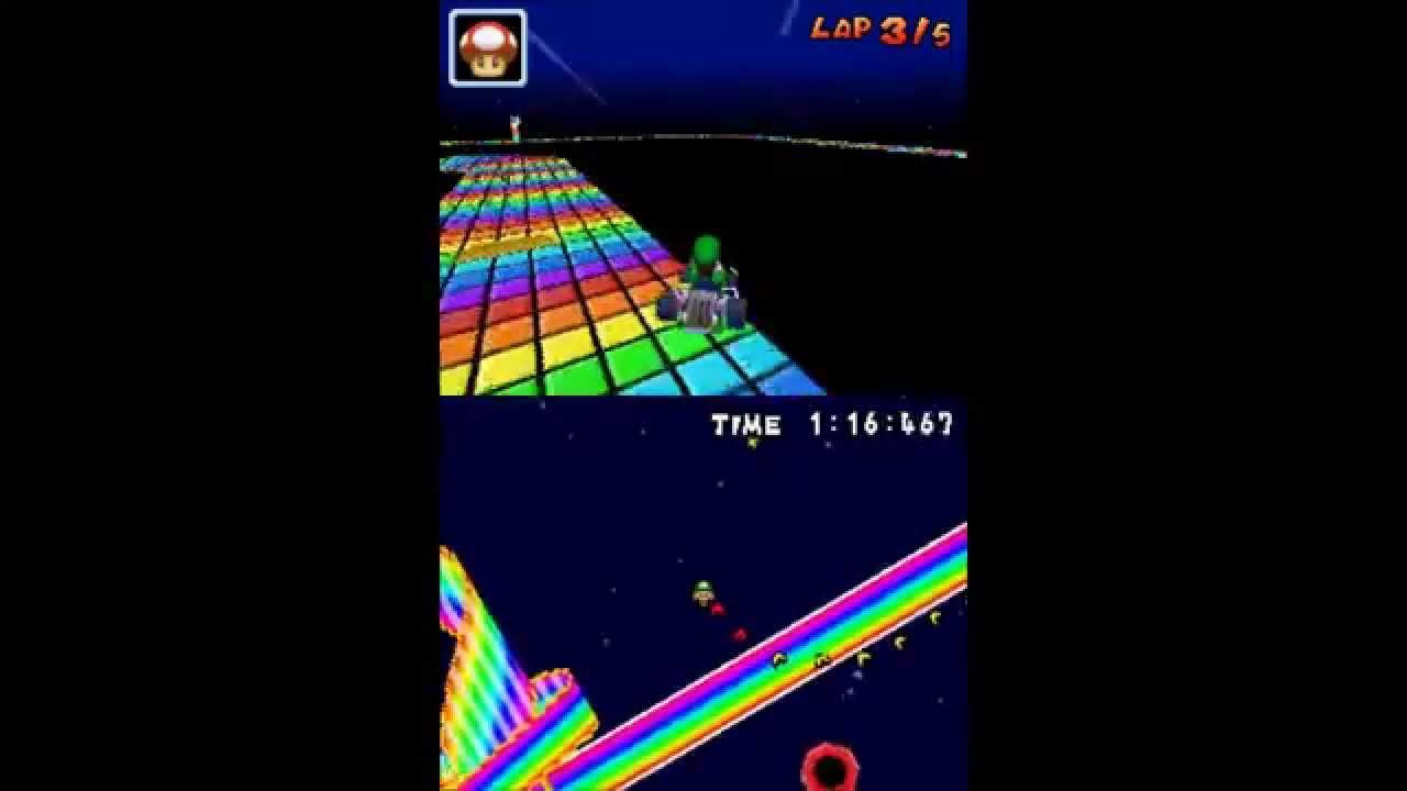 roa kart Mario Kart DS Random Hack Classic SNES Rainbow Road   YouTube roa kart