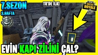 PLAY a GAME DIFFERENT DOORBELL LOCATIONS NAMED TASK Fortnite 7. Season 3 week Tasks