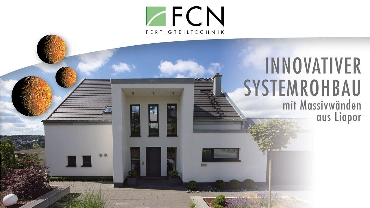 Brilliant Beton Fertighaus Dekoration Von Fcn- , Systemrohbau Mit Liapor® (blÄhton) MassivÄnden