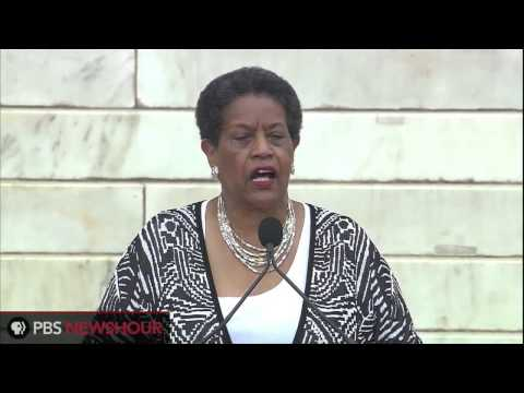 Journalist and Activist Myrlie Evers-Williams Speaks at 50th Anniversary of March on Washington
