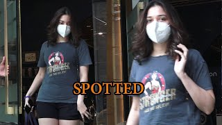 Tamanna Bhatia Spotted At Salon Bandra