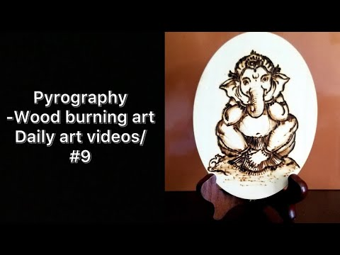 Pyrography - Wood burning art/ Daily art videos/#9