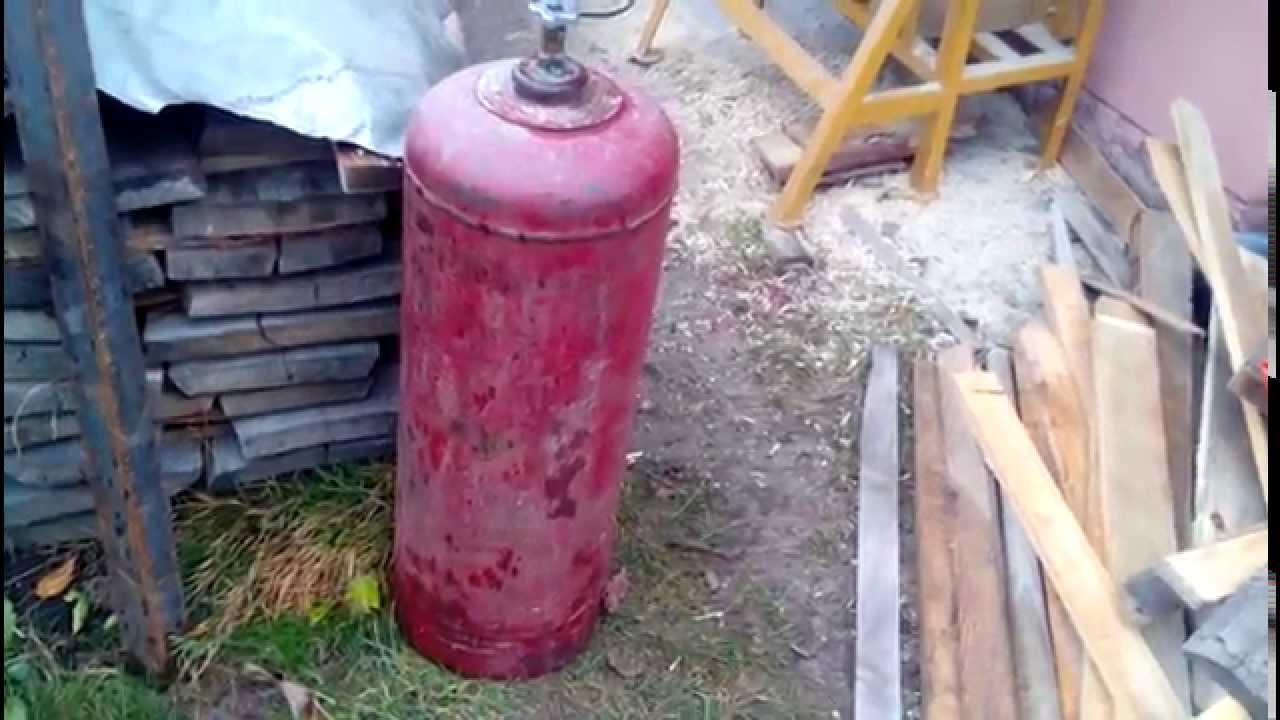 Как сделать буржуйку из газового баллона
