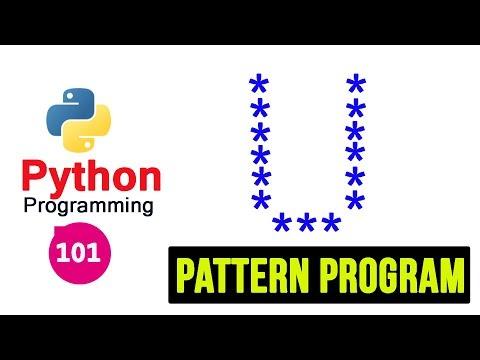Python 3 Pattern Program -101- Printing Stars in U Shape