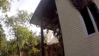 18+ Пожар в частном доме Шереметьево