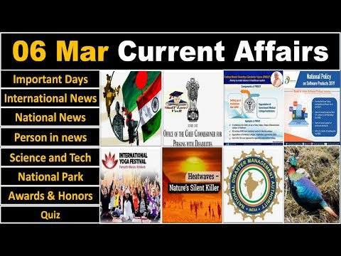 6 March 2019 PIB News, The Hindu, Indian Express - Current Affairs in Hindi, Nano Magazine, VeeR