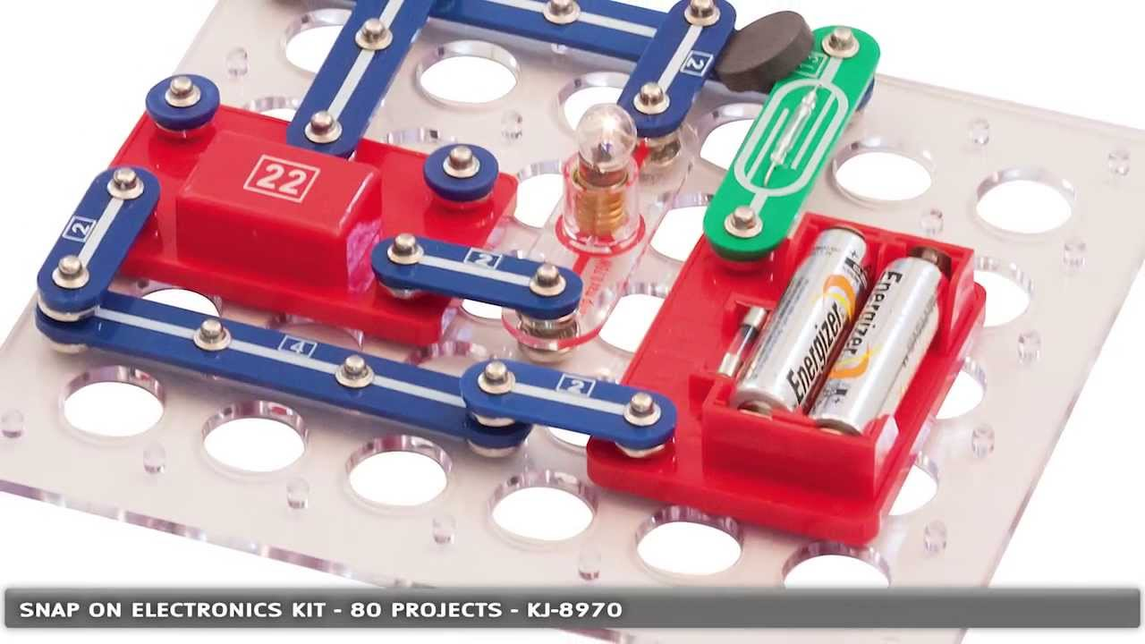 Electronic Project Snap On Kit With 80 Experiments Kj 8970 By Introduction To The Electric Switch Using Circuits All Jaycar Electronics Youtube