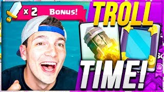 2X TROLL DECK BATTLES! First DOUBLE Clan War BATTLE DAY!