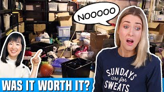I Tried an EXTREME DECLUTTER using the MARIE KONDO METHOD... worth it???
