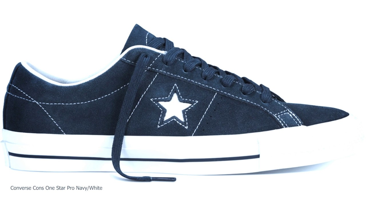 55ef4931cecd Converse Cons One Star Pro Navy White - YouTube