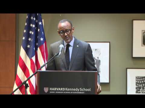 President Kagame speaks at Harvard Kennedy School Center for International Development Part 1/2