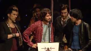 The Cribs Win Outstanding Contribution At The NME Awards 2013