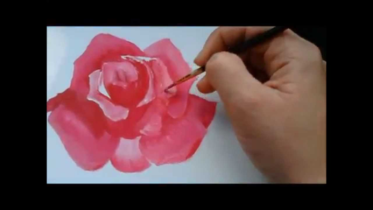 Pintura acrilica: Como pintar uma rosa ::Acrylic Painting ...