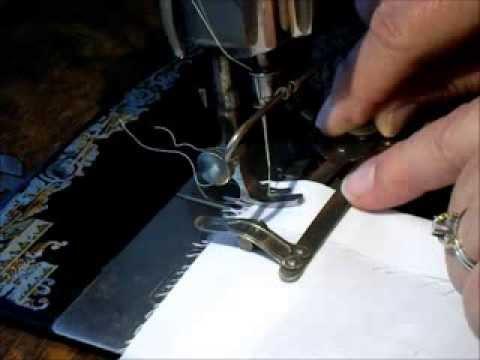 40's Singer TuckMarker Attachment On A Singer 4040 Treadle Unique Vintage Singer Sewing Machine Attachments