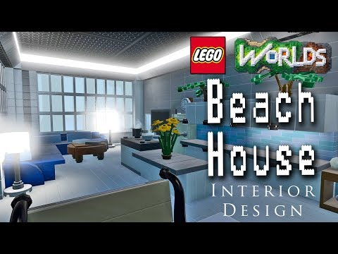 Designing and Building in Lego Worlds: Let's Build a Beach House! Part 3: Decorating the Interior