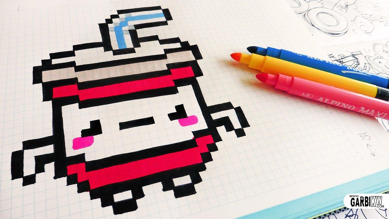 Favori Handmade Pixel Art - How To Draw Kawaii Soda #pixelart - YouTube SM56