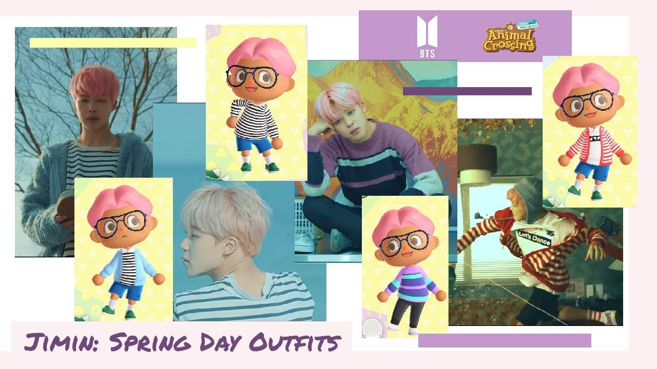 BTS Jimin Spring Day Outfits [Animal Crossing Design]